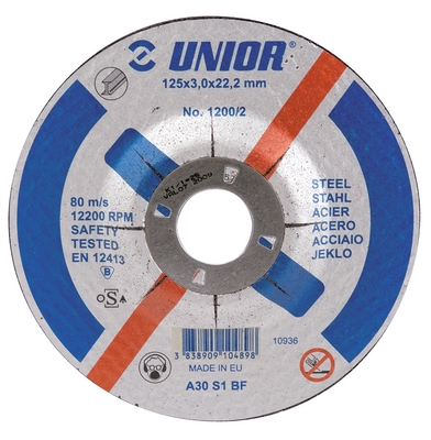 Discuri de tăiere cu gaura micșorată, pentru oțel - 1200/2